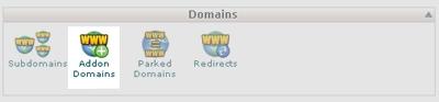 Új domain hozzáadása - Addon Domains