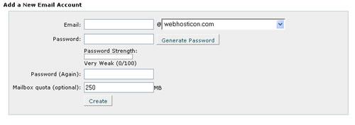 Új e-mail fiók létrehozása