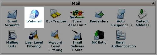 Webmail használata a tárhelyen