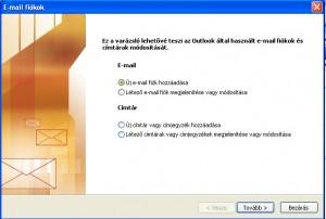 Microsoft Outlook 2003 beállítása
