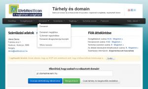Domain névszervereinek módosítása - domainek