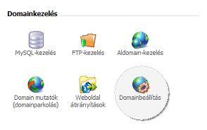Új domain hozzáadása a tárhelyhez