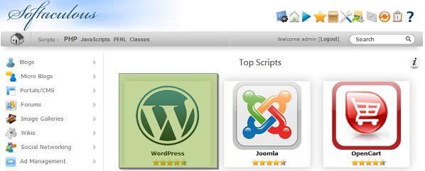 WordPress telepítés Softaculous -szal