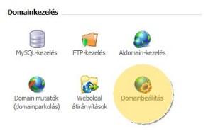 Domain átnevezése