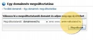 Domain megváltoztatása