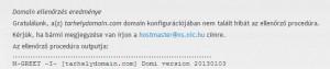 .hu domain technikai ellenőrzése