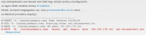 .hu domain technikai ellenőrzése sikertelen